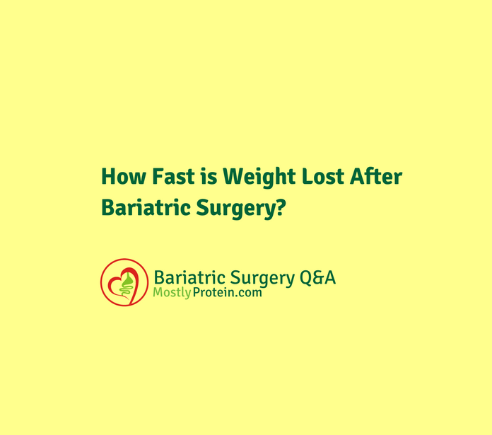 Average Rate of Weight Loss After Bariatric Surgery