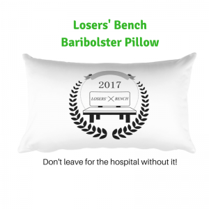 Losers' Bench Baribolster Pillow