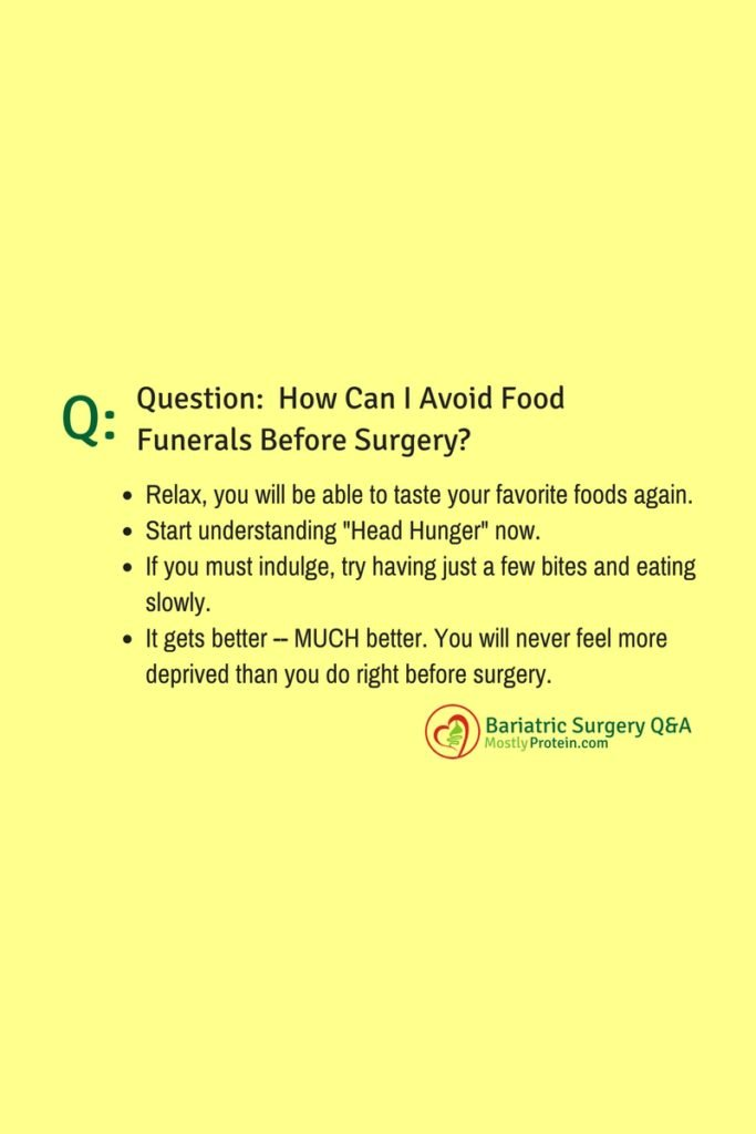 Q&A Avoid Food Funerals