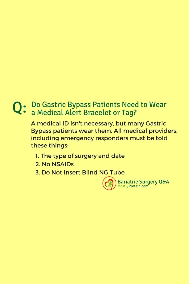 Medical ID Bracelet for Gastric Bypass