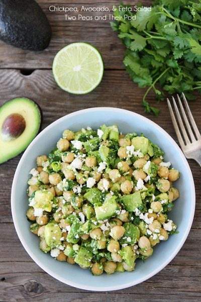 Chickpea Avocado and Feta Cold Salad